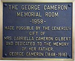 The George Cameron Memorial Room